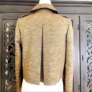 Burberry metallic gold short jacket